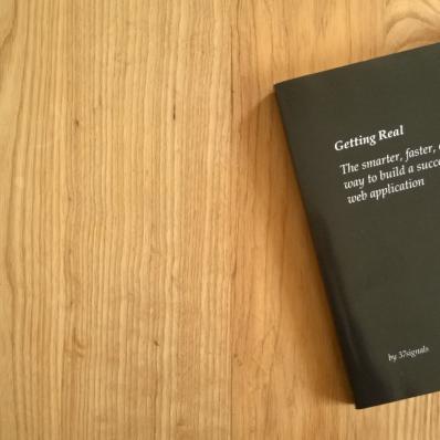 Schwarzes Buch, Aufschrift Getting Real